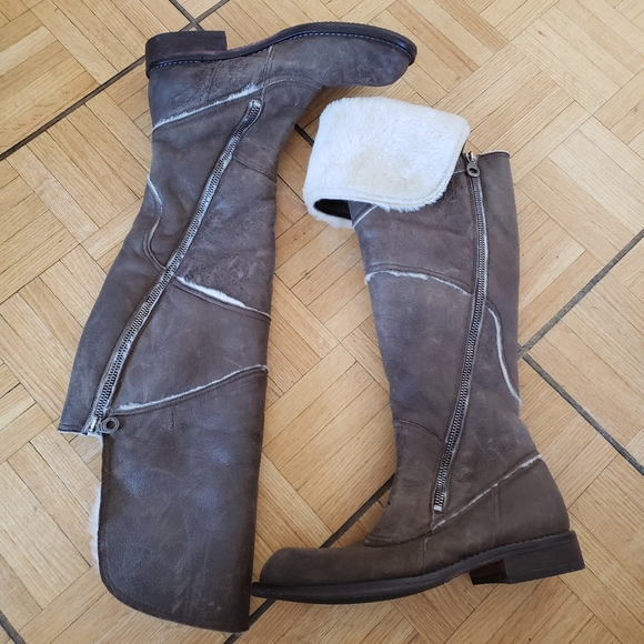 Genuine Leather & Sheepskin & Fur Boots